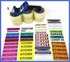Tag A Room Pack N Move 1150 Packing Tape Gun Moving Labels Bundle Supplies