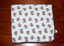 Carters Just One You Monkey Cotton Baby Blanket Skateboards Sports Basketball