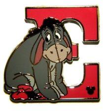 Eeyore Winnie The Pooh Alphabet Letter E Hidden Mickey HM Disney Pin DLR 2011