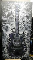 """OOAK Original ART Fantasy Painting """"My Guitar"""" 18"""" x 36"""" Listed By Artist!"""
