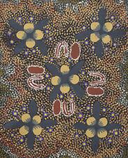 Wild Bush Tomato Australian Aboriginal Art by Audrey Martin Napanangka