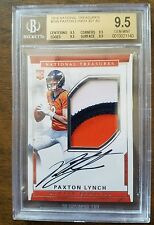 2016 National Treasures Paxton Lynch Auto Logo Patch RC SP /99 BGS 9.5 Broncos!
