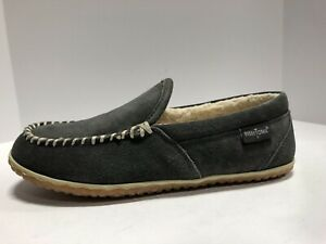 Minnetonka Tilden Mens Slipper Grey Size 11 M