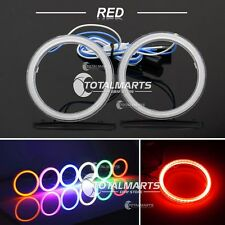 1Pair 60mm COB LED Angel Eyes Halo Ring Headlight DRL + Cover Lamps RED