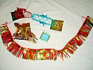 Vintage Retro 70s 80s Foil Christmas Decorations 80s MERRY CHRISTMAS foil Banner