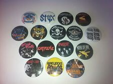 16 Hair Glam Metal badges Ratt Motley Crue Extreme Steel Panther Hanoi Rocks LA