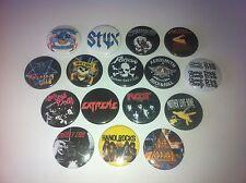 16 Hair Glam Metal badges Ratt Motley Crue Extreme Steel Panther Hanoi Rocks LA