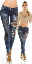 New Women Clubbing Skinny Jeans Ladies Trouser Gold Sequins Pants size 6 8 10 14