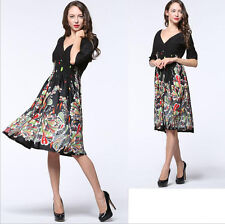New Women lady half Sleeve V Evening party Summer Formal dress Plus Size 18W