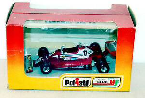 DTE 1/32 ITALY POLISTIL FK10 RED FERRARI 312 T2 FORMULA 1 RACE CAR NIOB
