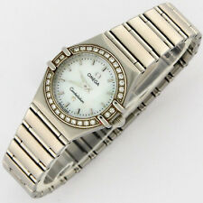 Omega Constellation 95 Mini Diamonds MOP SS Ladies Watch 1466.71 22.5mm w/Cards