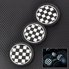 Hotsale 3Pcs Chess Patten Anti-Slip Cup Mat Pad for Mini JCW R55 R56 R57 R58 R59