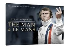 Steve McQueen 30x20 Inch Canvas - 'The Man & Le Mans' Framed Picture Print Art