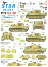Star Decals 1/72 WESTERN FRONT TIGERS Tiger Tanks SS Panzer Divisions Part 1