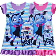 Kids Girl Vampirina Skirt Dress Pajamas Sleepwear Top T Shirt Nightdress 2018