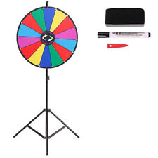 """Editable Upgraded  24"""" Color Prize Wheel Fortune Tabletop Spinning Game"""