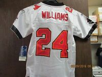 "NFL-TAMPA BAY BUCCANEERS- YOUTH WHITE MESH ""ON FIELD"" JERSEY #24 WILLIAMS[TB103]"