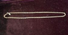 SARAH COVENTRY SILVER TONE 17 INCH ROUND LINK CHAIN NECKLACE