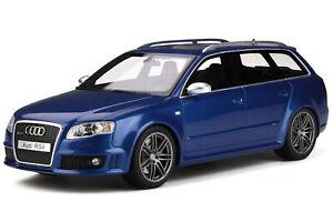 Audi A4 B7 RS4 Avant 2005 sepang blau Modellauto OT785 Otto 1:18