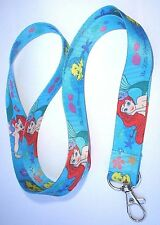 ARIEL THE LITTLE MERMAID PRINTED LANYARD NECK STRAP ID HOLDER FLOUNDER THE FISH