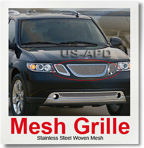 FOR 07-10 Saab 9-7X Stainless Steel Mesh Grille Insert