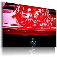 FERRARI 452 RED TIRES Sports Cars Wall Art Canvas Picture  AU831 UNFRAMED