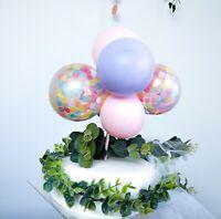 BALLOON CAKE TOPPER GARLAND ARCH BIRTHDAY WEDDING DECORATION PINK LILAC CONFETTI