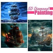 Pirate Ship On Ocean Design Full Drill 5D Diamond Painting DIY Cross Stitch Kit