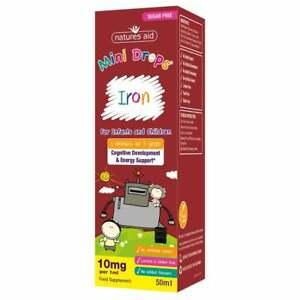 Natures Aid Mini Iron Drops + Vitamin C, B12 & Folic Acid-  Infant Children 50ml