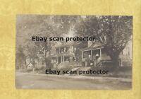 NY Freeport area 1909 ? RPPC real photo postcard HOMES & PEOPLE to Jamaica NY LI