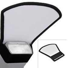 Blitz Diffusor Weiß Silber Reflektor Softbox *für Aufsteckblitz Canon Nikon Metz