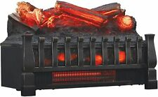 Electric Embedded Quartz Set Heater with Realistic Ember Bed and Logs Black xW