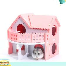 Wooden Hamster Ecological Double-Deck Ladder Villa Colors Bed House Cage Nest