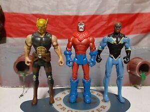 "DC Universe Infinite Heroes Crisis 4"" Figure Lot- Manhunter, wingman."
