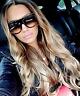"""SHADOW"" Women Sunglasses Teardrop Aviator Flat Top Side Dots Ombre Havana Shadz"
