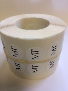 10,000 22mmdia Custom Printed Self Adhesive Labels
