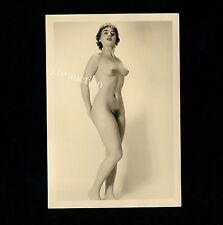 #414 RÖSSLER AKTFOTO / NUDE WOMAN STUDY * Vintage 1950s Studio Photo - no PC !