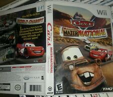 cars maternational championship wii replacement case and manual only