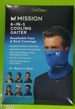 MISSION COOLING Compact Cooling Gaiter / Neck FACE MASK Blue NEW Ships Same Day!