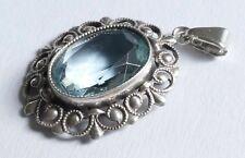 Anhänger Art Deco blauer Edelstein Silber 835 Vintage 30er silver pendant