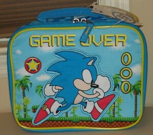 Sonic the hedgehog hedge hog SONIC GAME OVER soft Insulated lunch box tote
