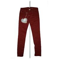 PLEASE Tinto  Damen stretch slim skinny comfort Jeans Hose Gr.XS W26 L30 Rot NEU