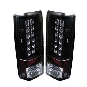 Chevy 85-05 Astro / GMC Safari Black LED Style Rear Tail Lights Set Brake Lamp
