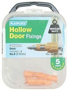Plasplugs - Hollow Door Fixing Kit (Pack of 5)