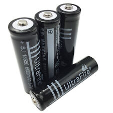 4 X 18650 Batteries 6000 mAh 3.7V Rechargeable Li-ion Battery Flashlight Torch