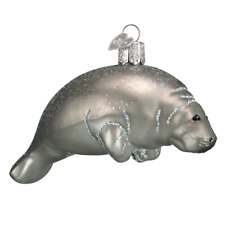 """Manatee"" (12278)X Old World Christmas Glass Ornament w/OWC Box"