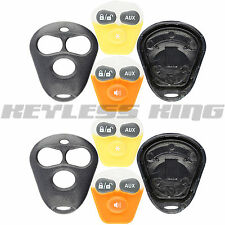 2 Key Fob Shell Case for Viper Dei Aftermarket Alarm Remote Starter Systems 3btn