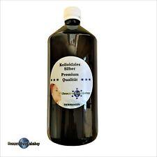 Kolloidales Silber Premium, PET Braunflasche 1000ml,50ppm, Silberwasser