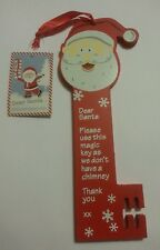XMAS Santa Father Christmas Magic Key No Chimney Happy Merry Christmas LOCK
