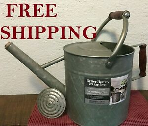 Better Homes & Gardens 1.7 Gal Galvanized Metal Watering Can Antique Look
